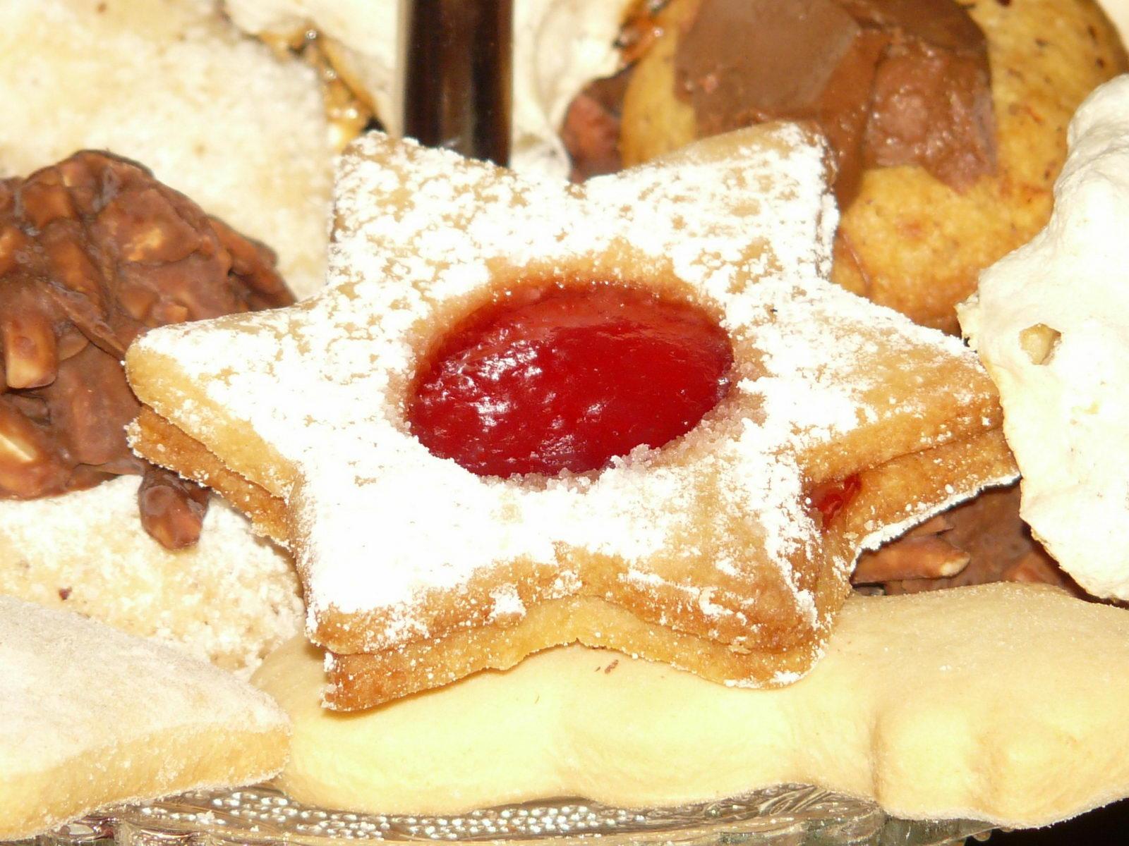 Butterplätzchen mit Marmelade